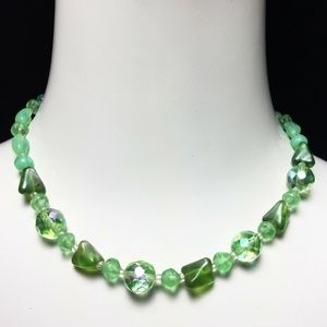 Vintage 50s VENDOME AB Crystal Glass Bead Necklace